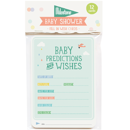 Milestone™ Baby Shower Predictions & Wishes
