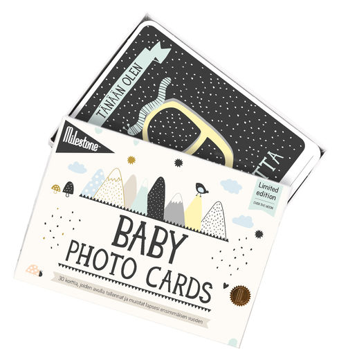 Milestone Baby Cards Over The Moon FI